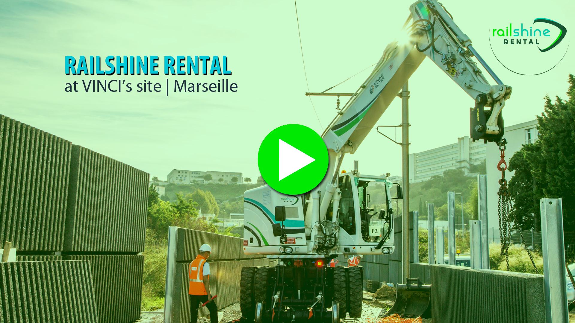 Railshine Rental a participé au chantier d'une construction de ligne ferroviaire fret à Marseille.